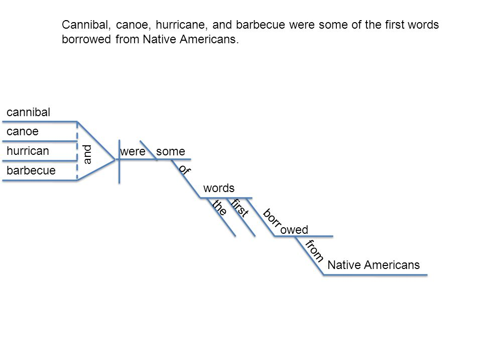 Cannibal, canoe, hurricane, and barbecue were some of the first words