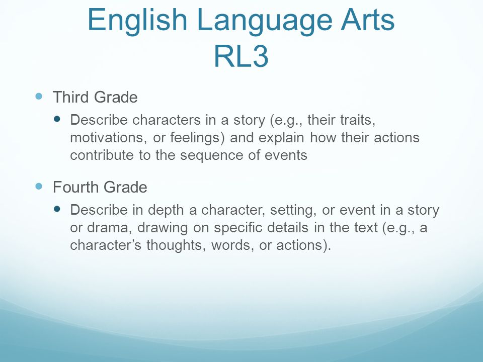 English Language Arts RL3