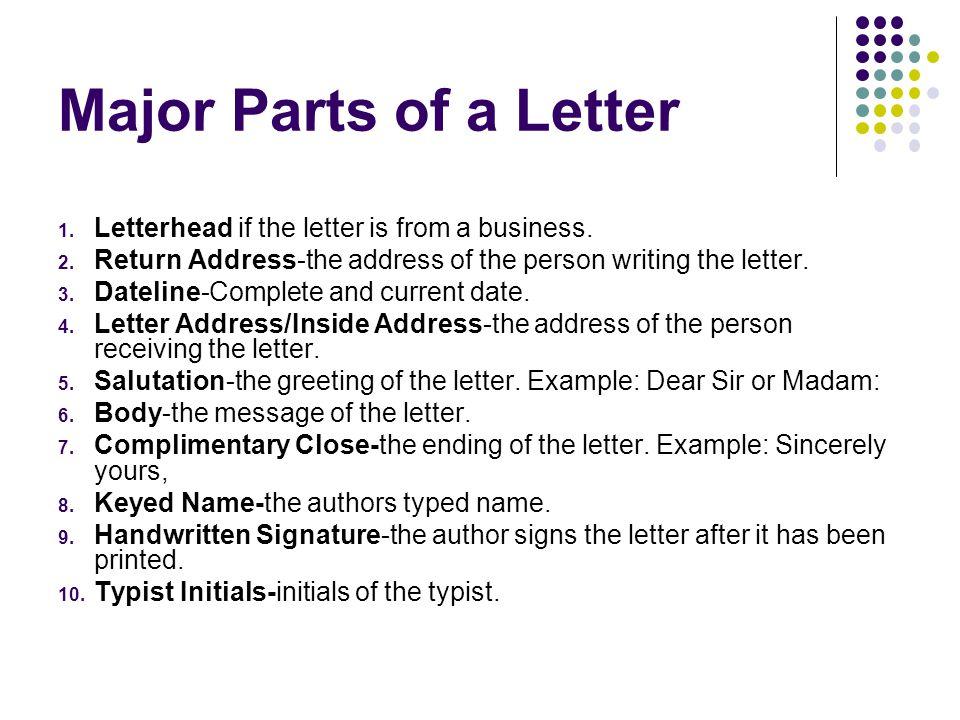 letters on letterhead