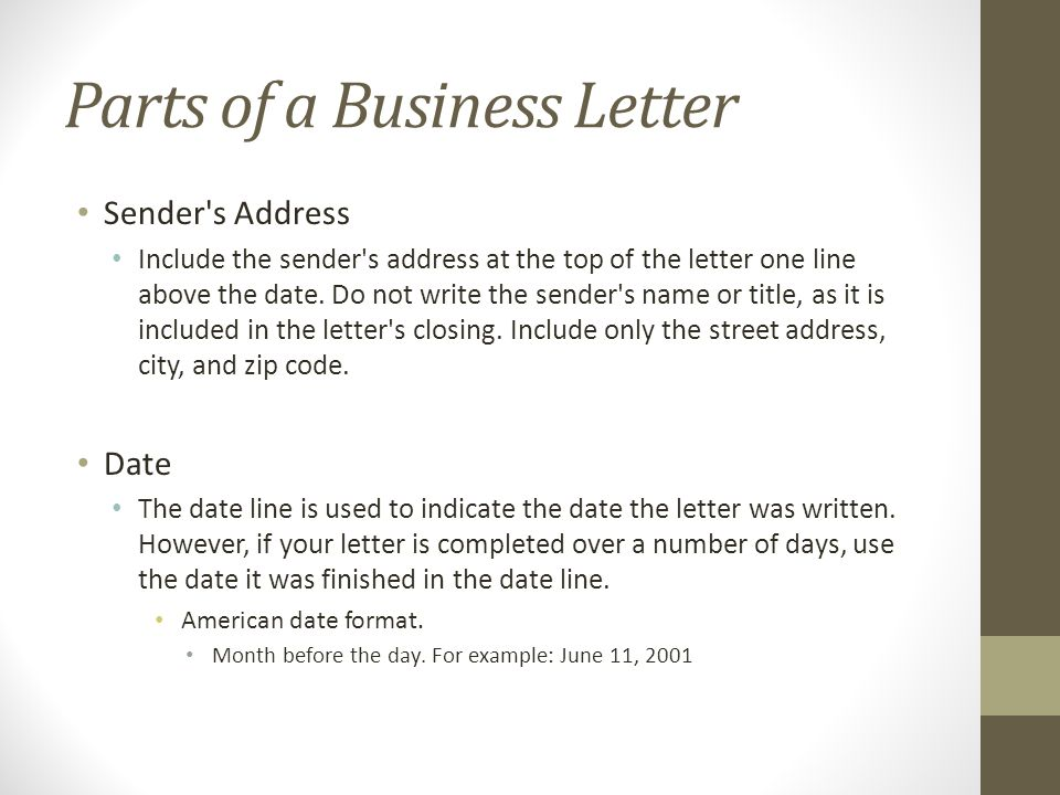 writing the basic business letter