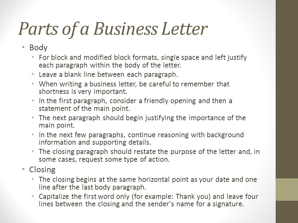 Writing The Basic Business Letter - Ppt Download