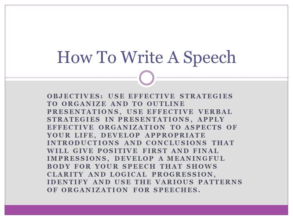 writing a speech introduction