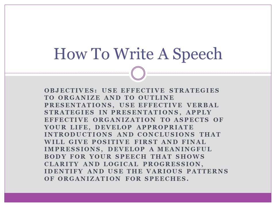 effective speech writing essay Presentation of effective communication creative writing (speech presentation sample) presentation of effective communication with over 10 years in the essay.