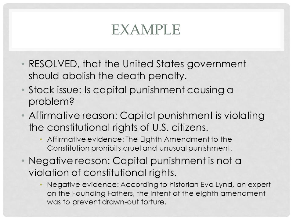 Constitutional Argument in Support of Capital Punishment