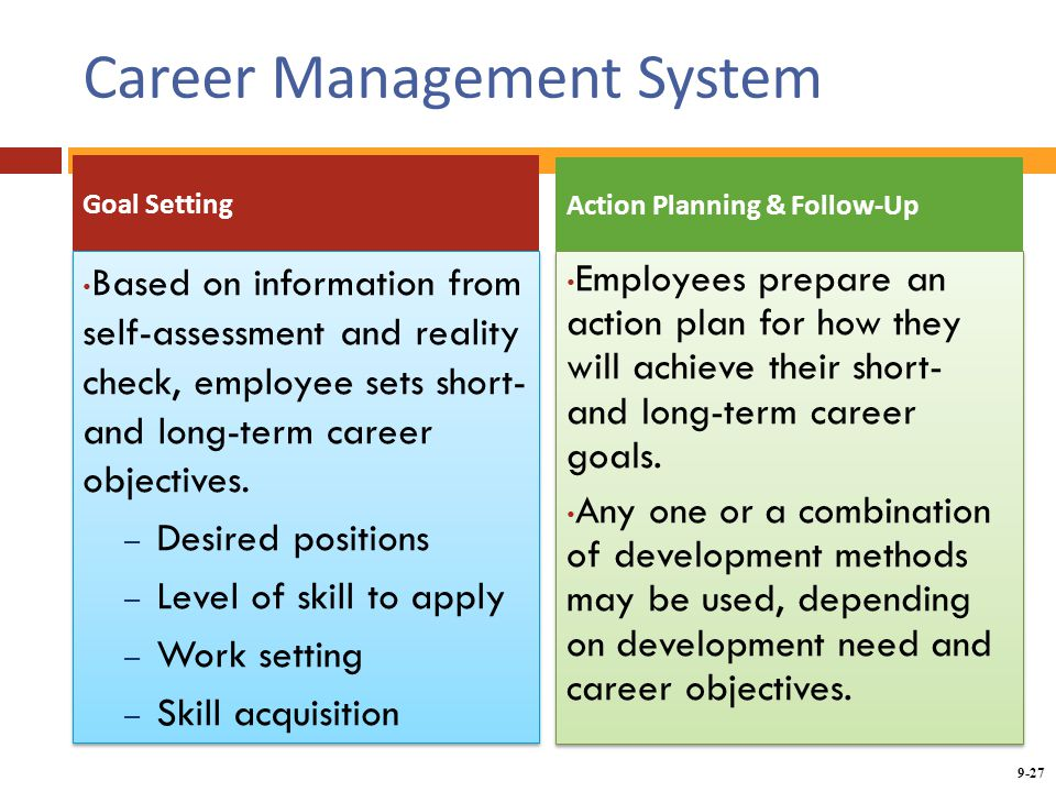 career planning setting goals and self assessment