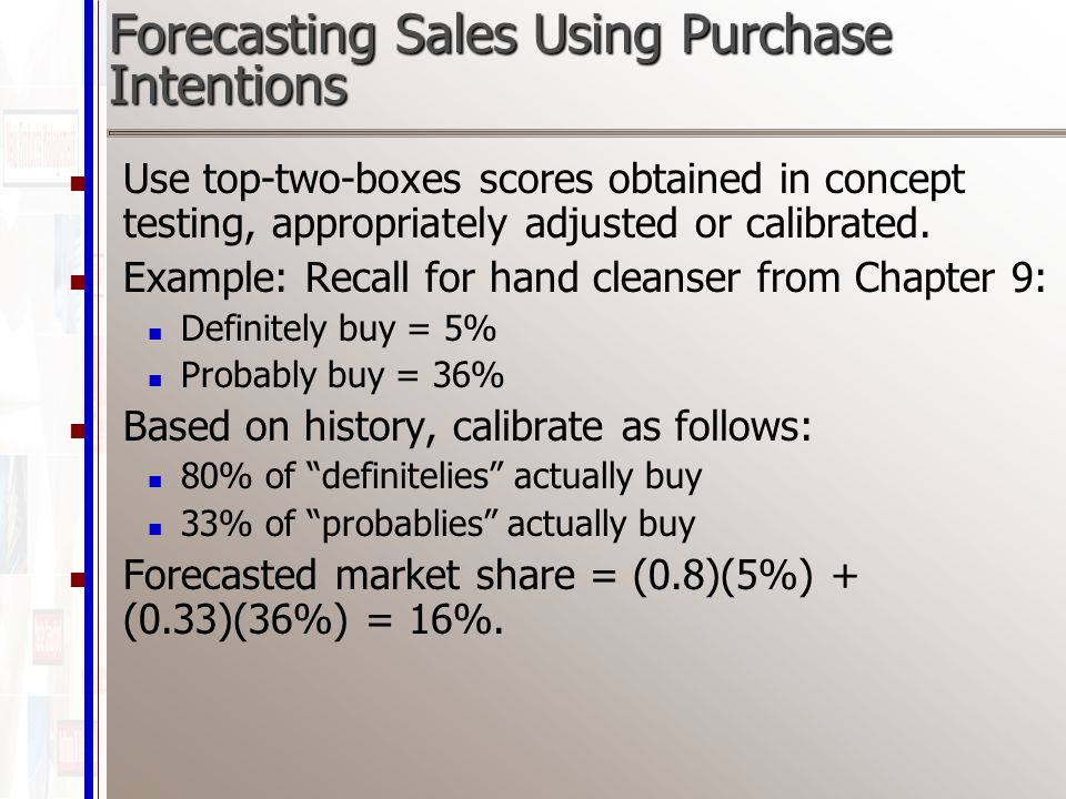 use of forecasting technique in purchase Delphi technique the delphi technique consists of an anonymous survey of experts that is conducted in multiple rounds in between each round, a facilitator summarizes the experts' opinions in the form of a statistical demand forecast and, based on this summary, creates a new questionnaire or survey.