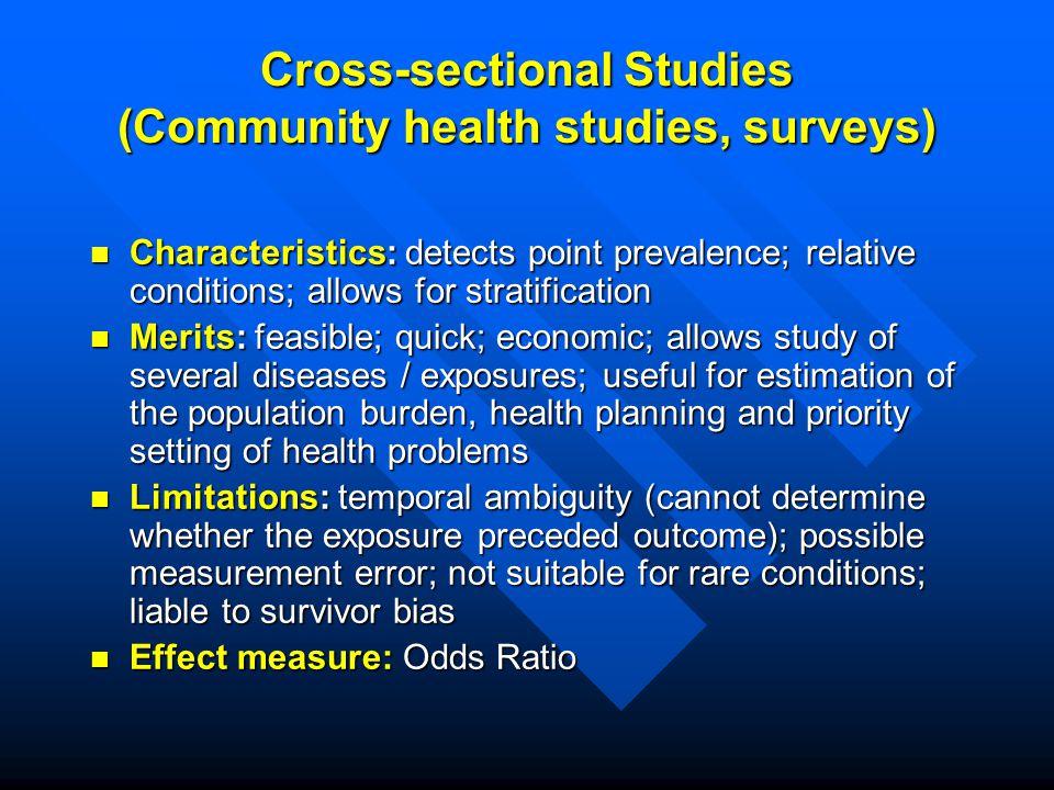 30 Cross Sectional Studies