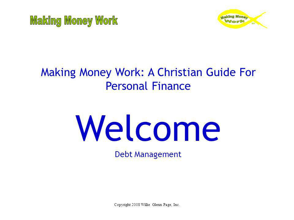 Welcome Making Money Work