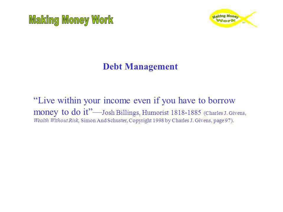 Making Money Work Debt Management
