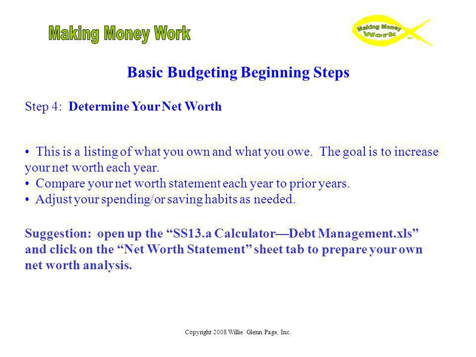 Basic Budgeting Beginning Steps