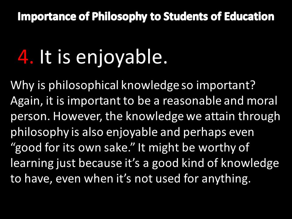 the importance of educational philosophy on students learning An analysis of undergraduate philosophy of education  arguments highlight the importance of philosophy  learning philosophy of education students.
