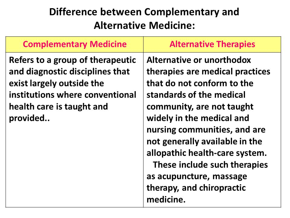 complementary therapy This page explains what complementary therapy is and some of the things to think about before trying one it focusses on massage, a complementary therapy that people.