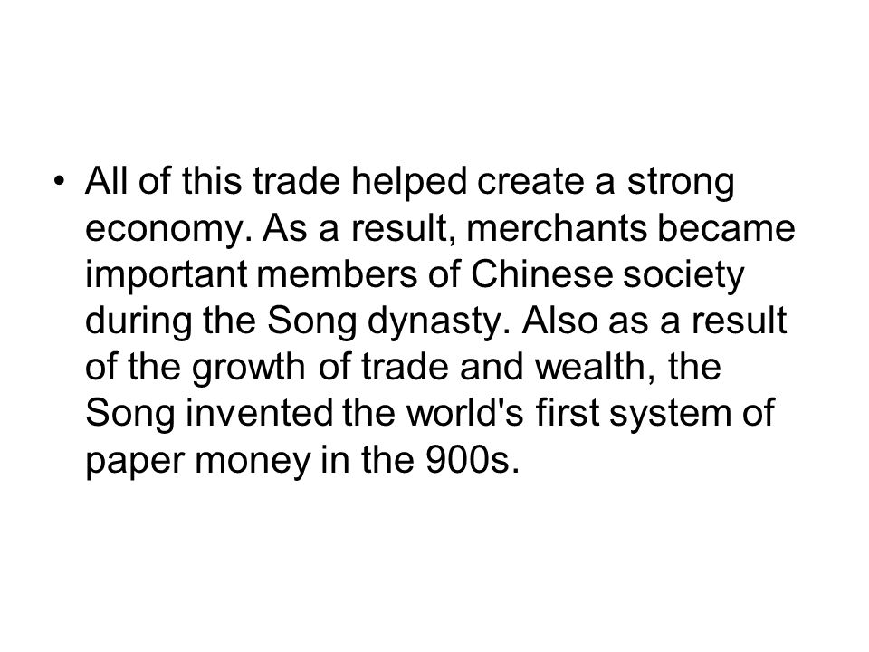 Essay/Term paper: The song dynasty