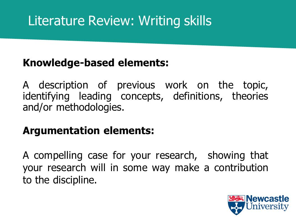 literature review dissertations Table of contents
