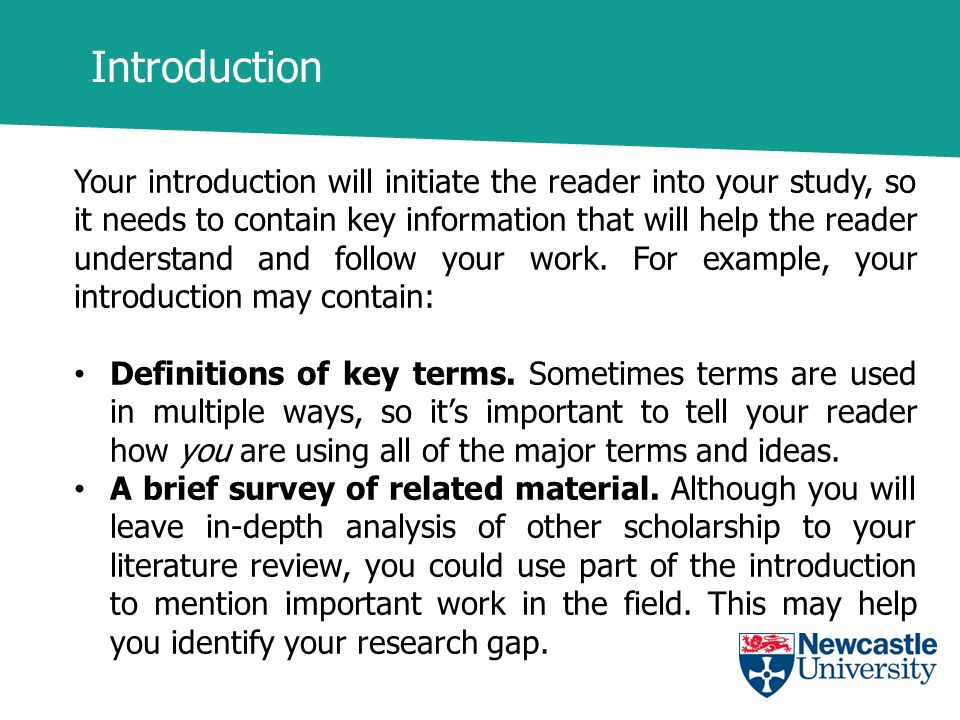 Dissertation definition of key terms