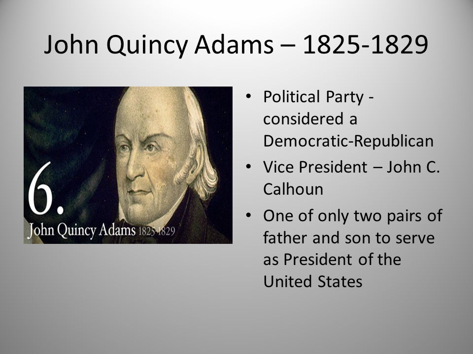 Thesis statement for john quincy adams