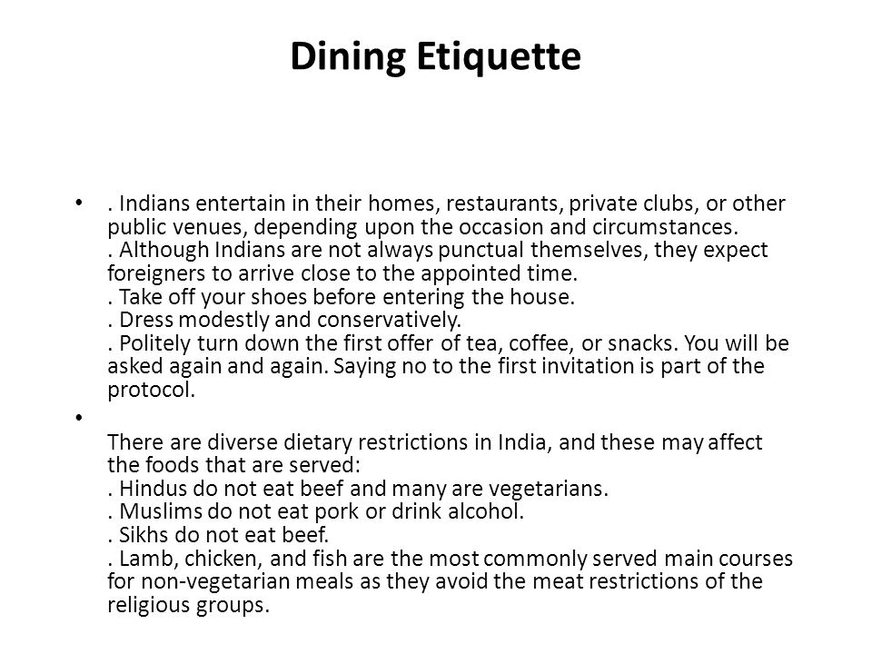 Language culture customs and etiquette ppt download for What do you call a vegetarian that eats fish