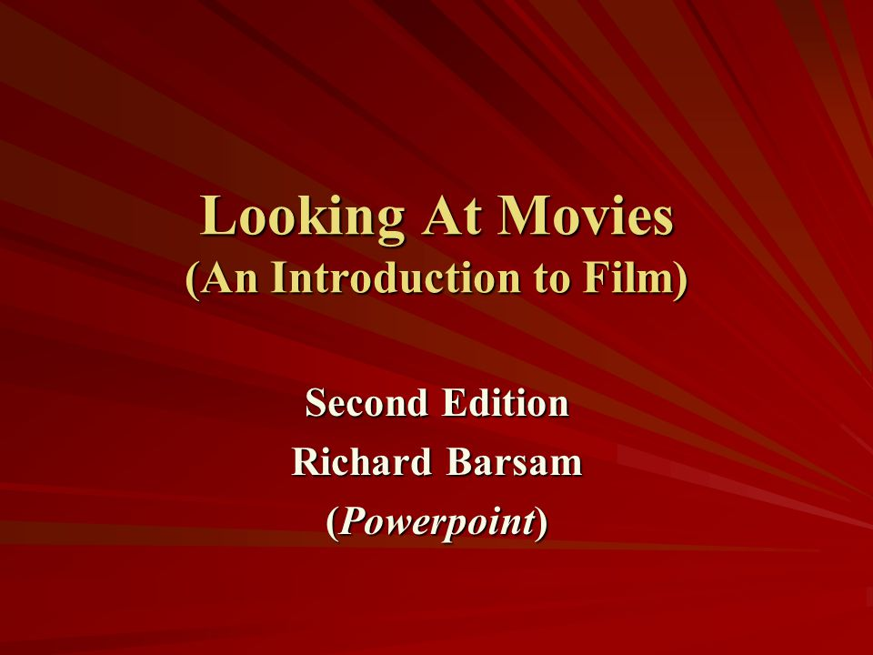 an introduction to the cinema The history of cinema now spans more than a century one could say that the twentieth century was the first century to be recorded in motion pictures but how .