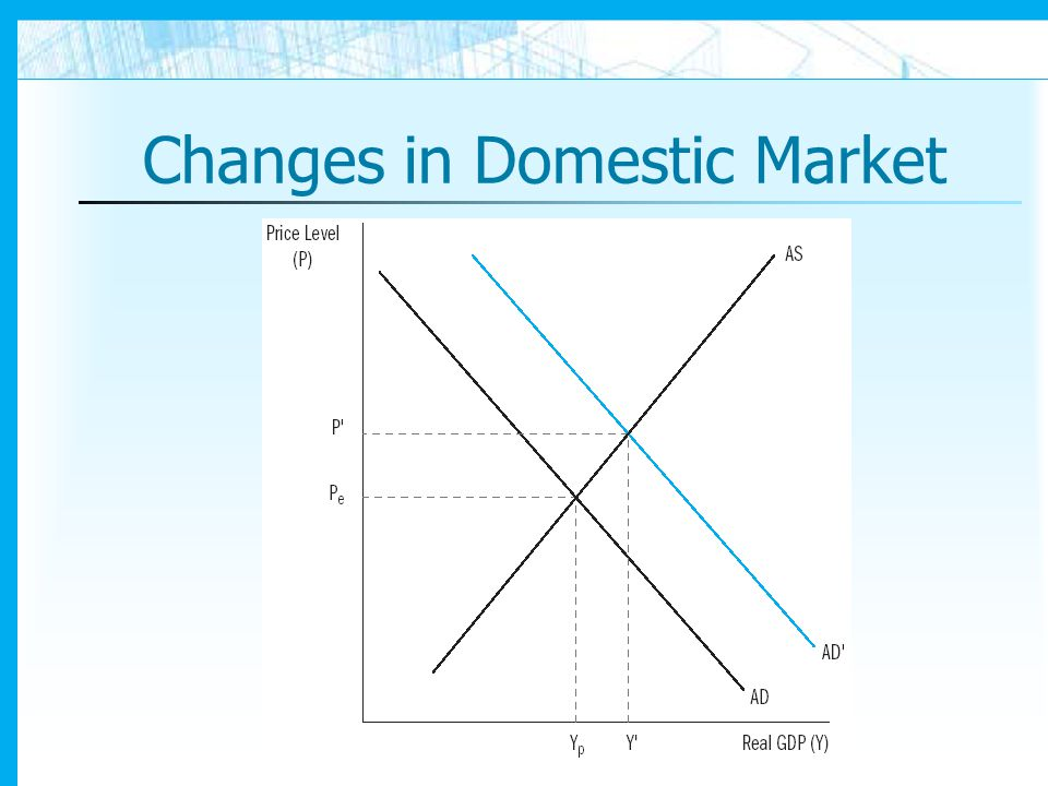 Changes in Domestic Market