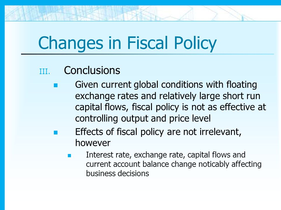 economic effects of fiscal policy