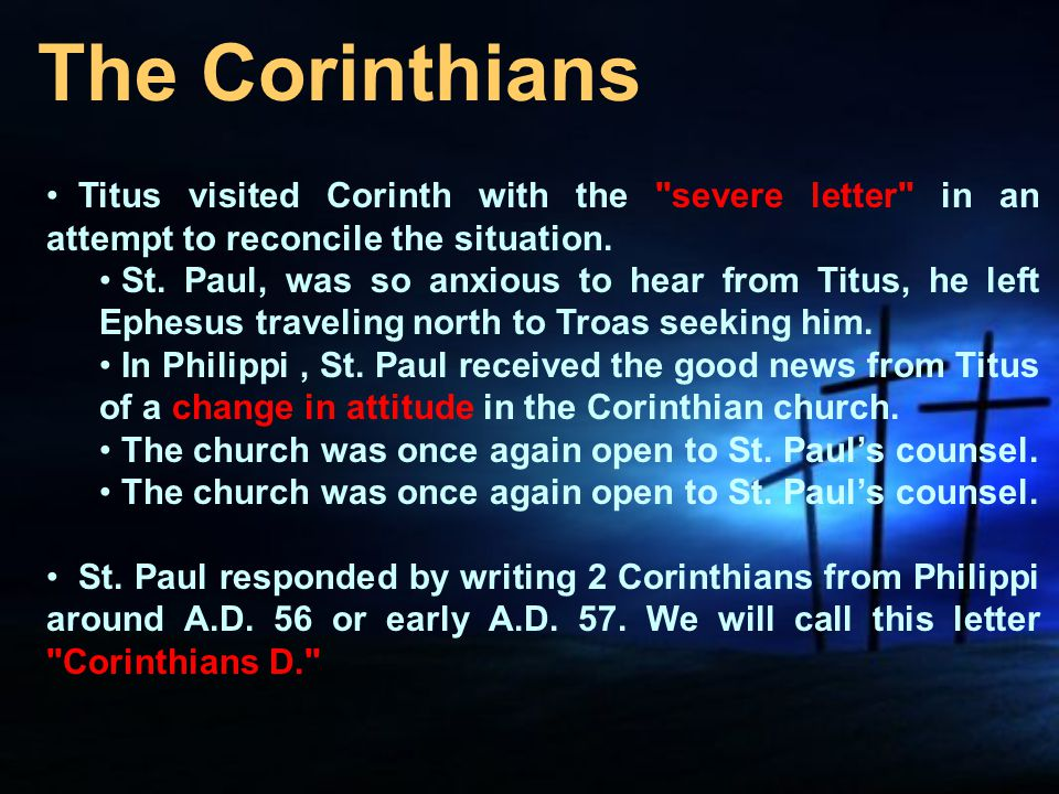 The 1 corinthians as the letter of paul to the corinthian church