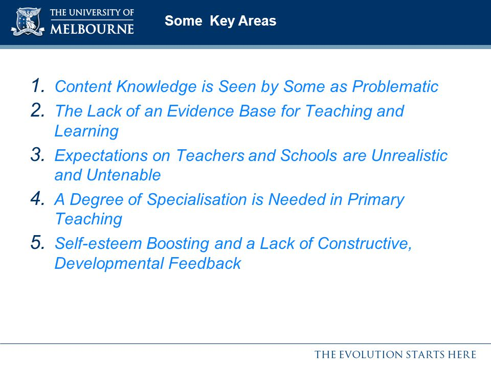Content Knowledge is Seen by Some as Problematic