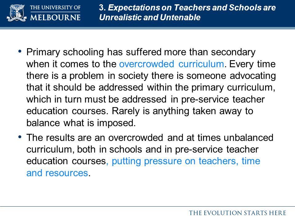 3. Expectations on Teachers and Schools are Unrealistic and Untenable