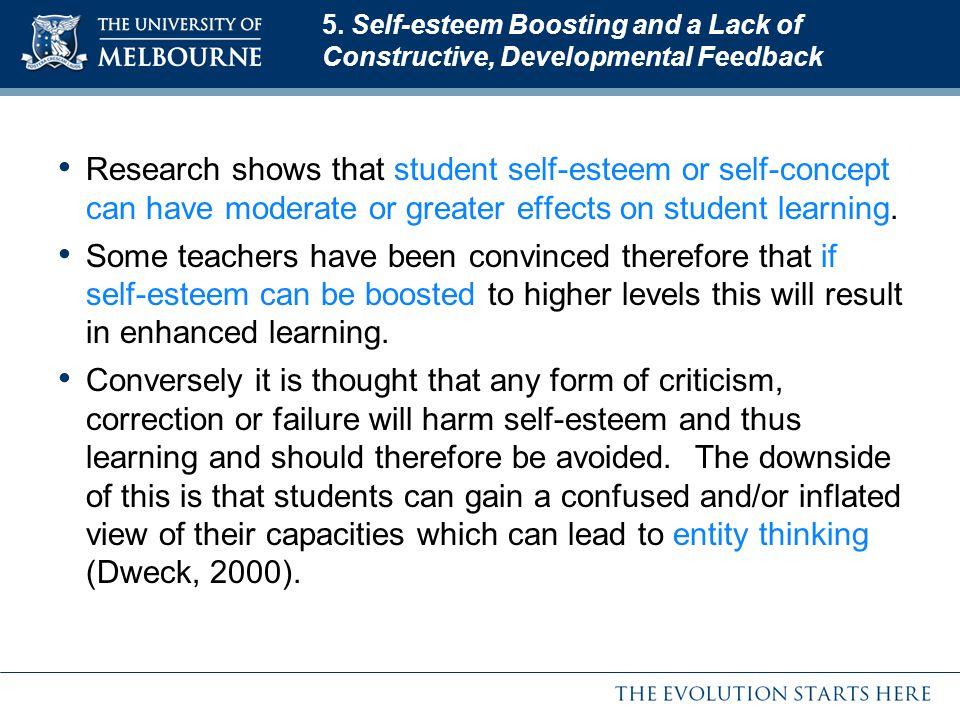 5. Self-esteem Boosting and a Lack of Constructive, Developmental Feedback