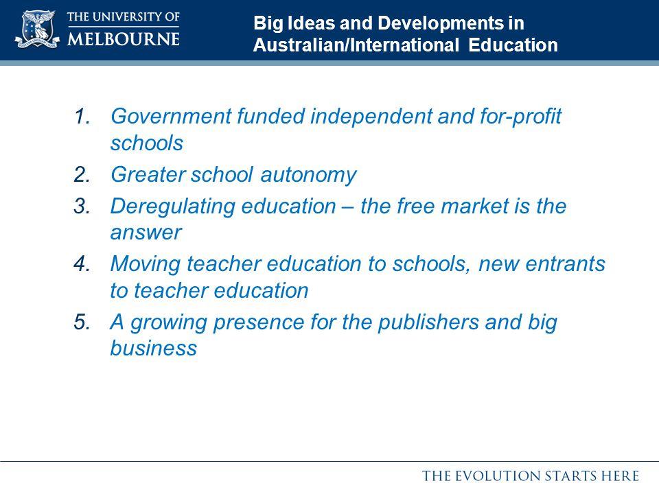 Big Ideas and Developments in Australian/International Education