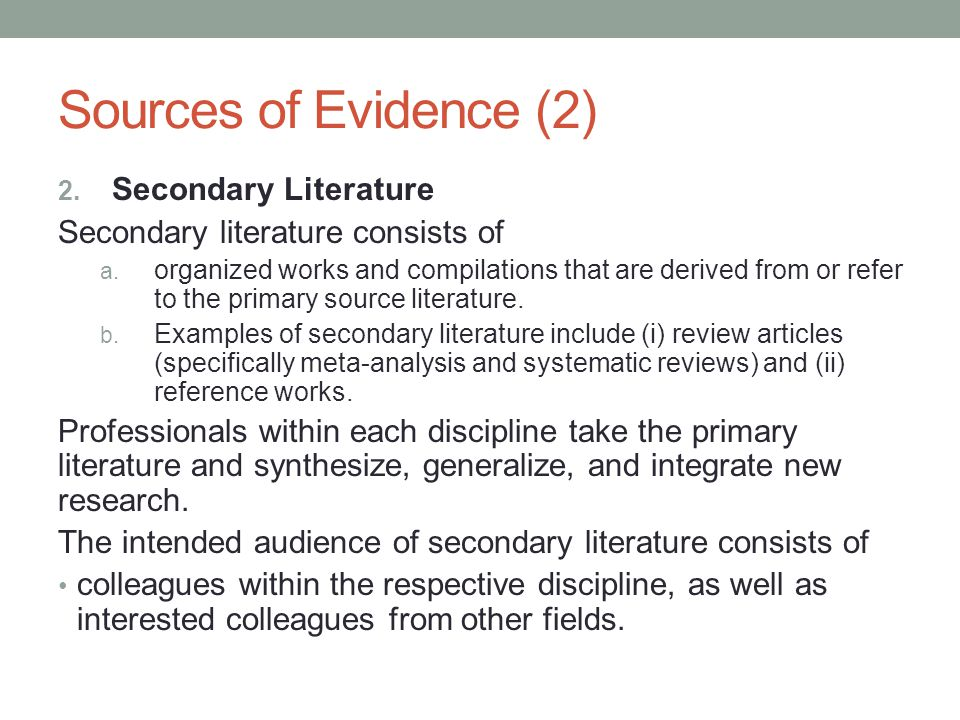 secondary data analysis literature review The potential benefits of beginning any study with secondary data are outlined,   the assembly and analysis of secondary data almost invariably improves the.