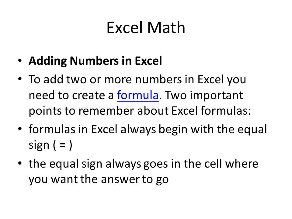 how to add up the numbers in excel