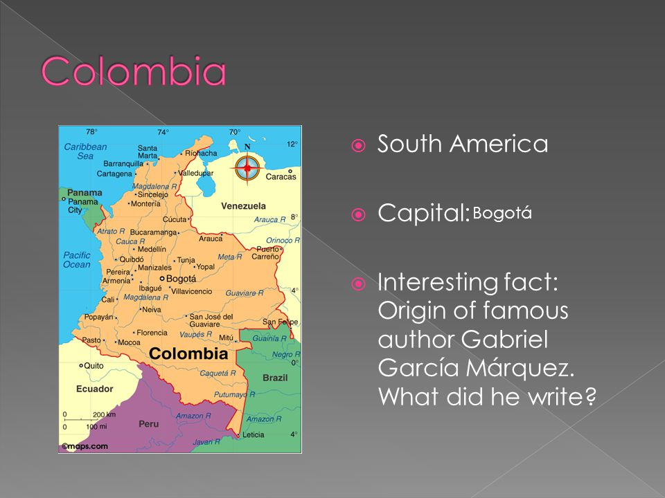 Colombia South America Capital:
