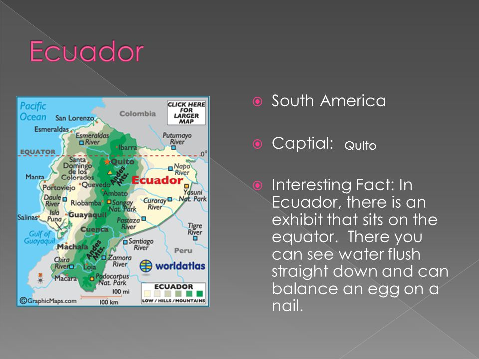 Ecuador South America Captial: