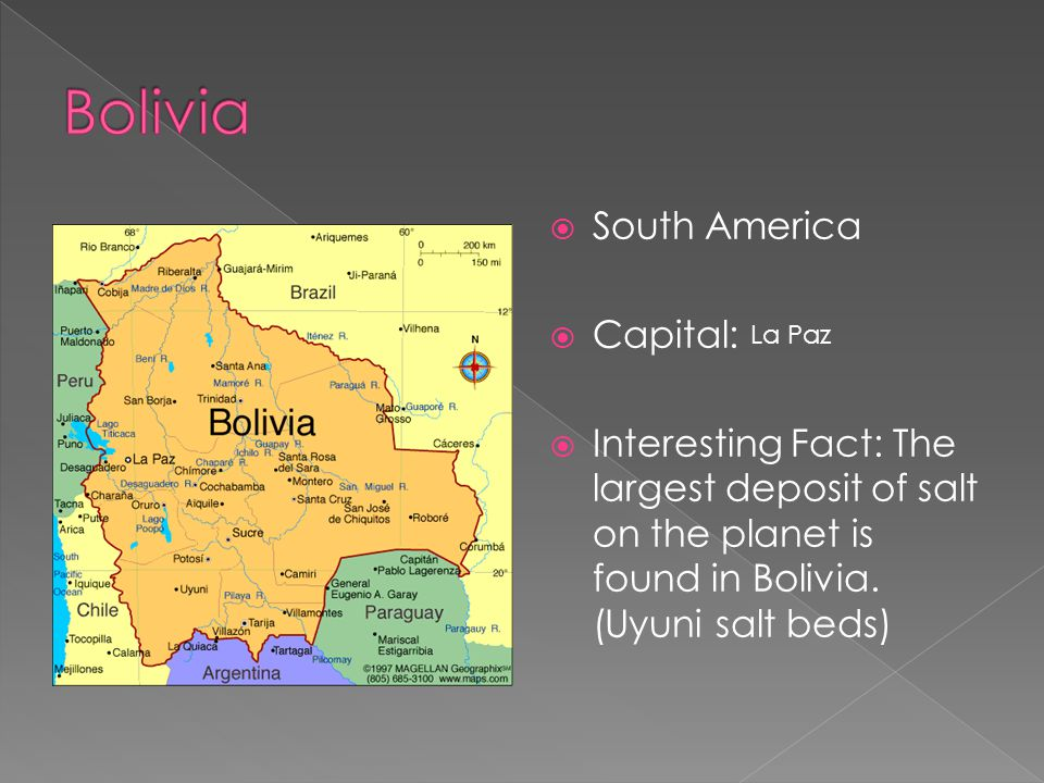 Bolivia South America Capital: