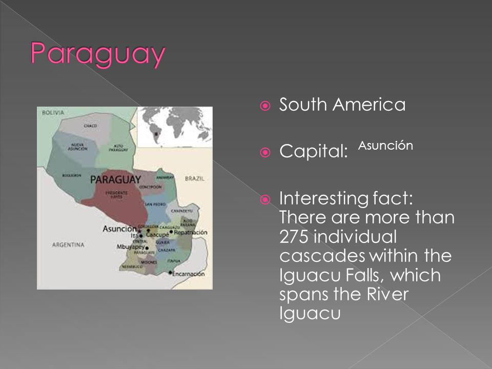 Paraguay South America Capital: