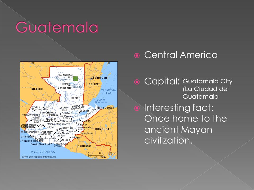 Guatemala Central America Capital: