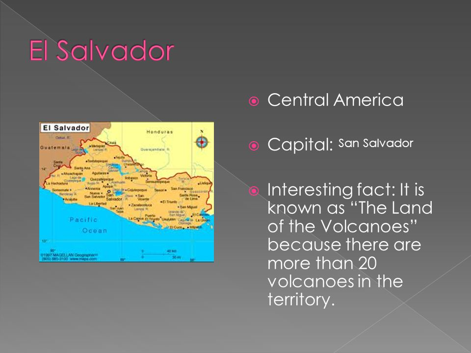 El Salvador Central America Capital: