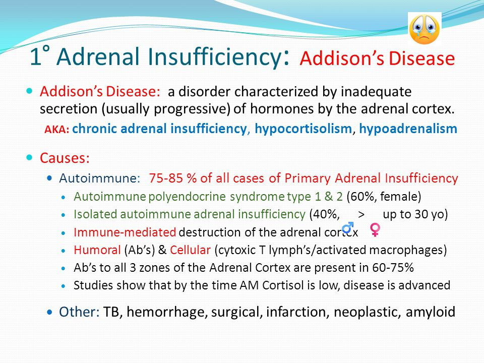 addisons disease hypocortisolism essay Treatment of metabolic, hormonal  esse quam videri from cicero's essay on  addison's disease or hypocortisolism, pancreatitis, obesity as a.