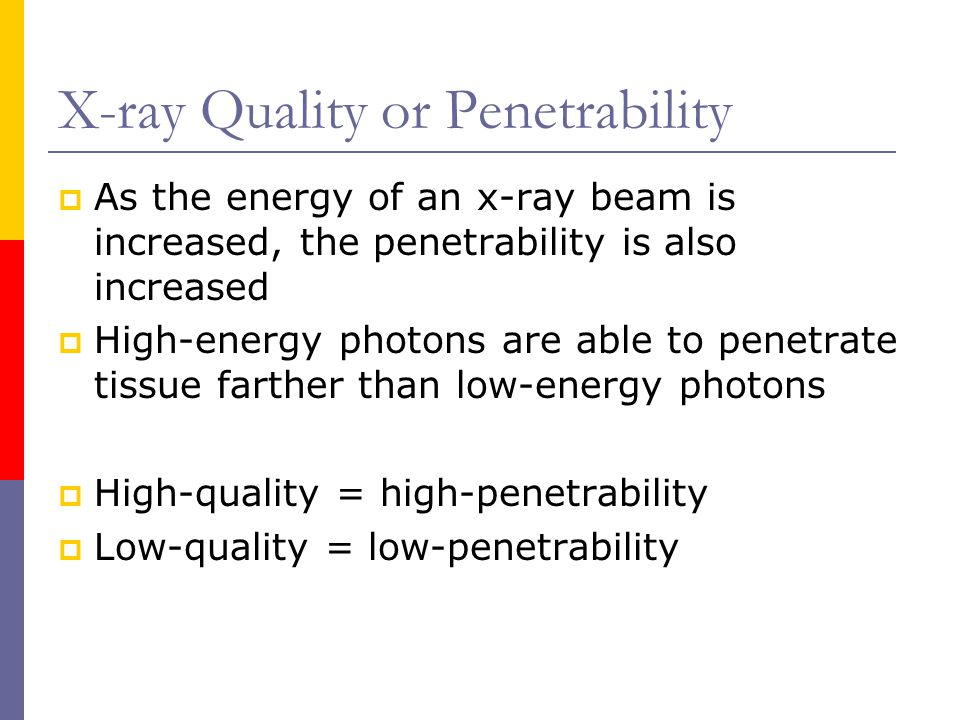 X-ray Quality or Penetrability