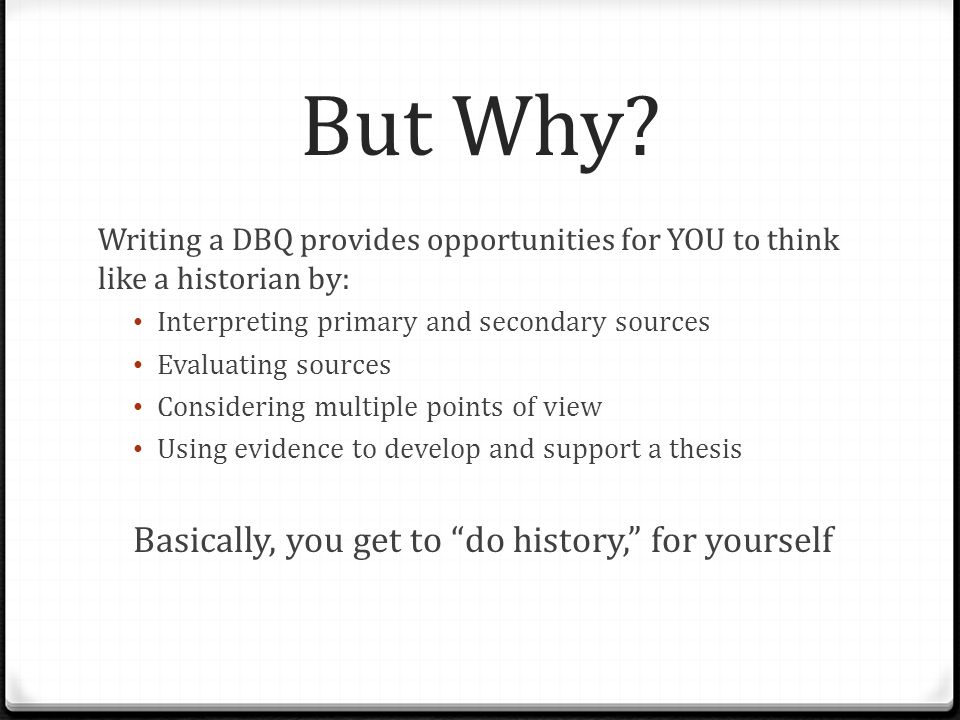 thesis for history dbq How do i write a ap world history thesis statement (document based question how do you write a thesis statement for a ap world history dbq.