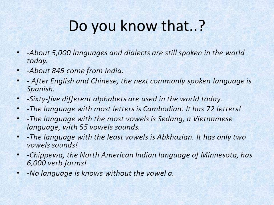 A New Language Is A New World Ppt Video Online Download - How many languages are in the world today