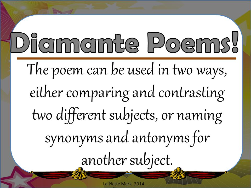 Diamante Poems!