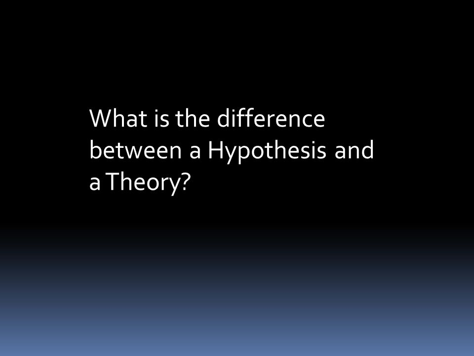 diffrenece between hypothesis and theory Hypothesis: a scientific explanation for a set of observations that can be tested   statistically significant difference between the means  a tentative theory use.