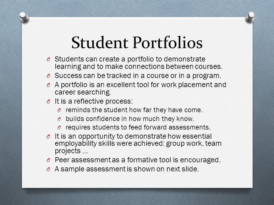 Portfolio Development - ppt download