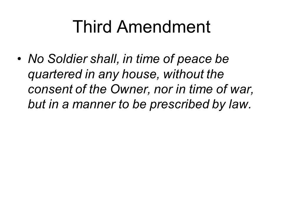 Third Amendment