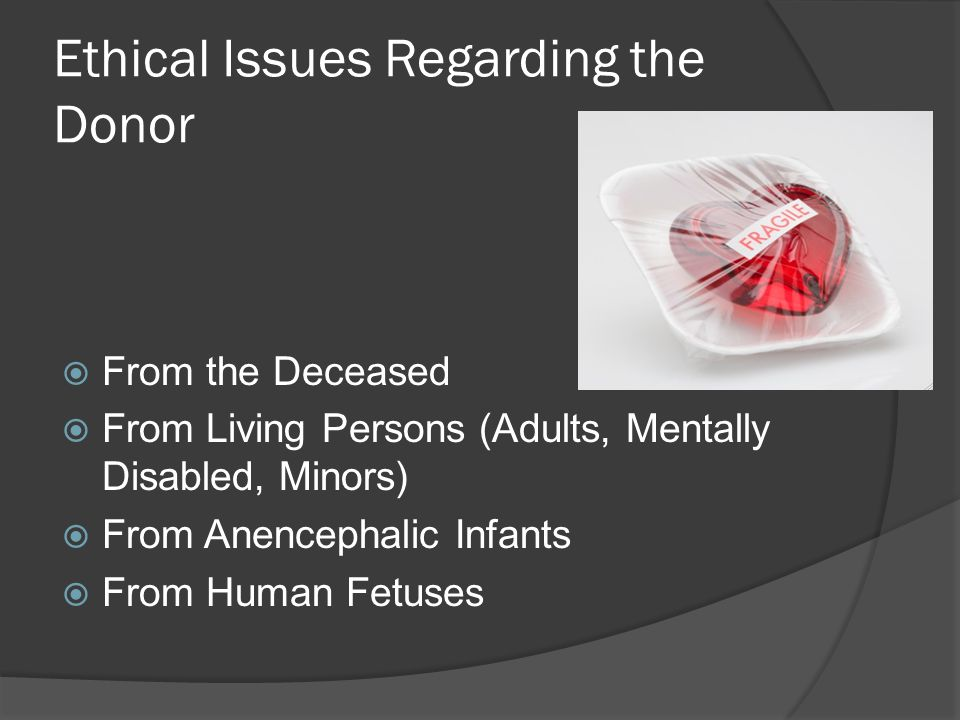 Ethical Aspects Of Organ Allocation