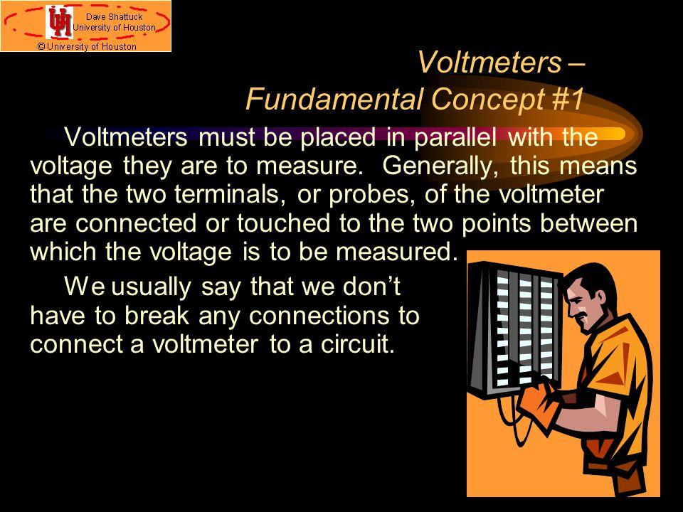 Concept Of Voltmeter : Meters and measurements ppt download