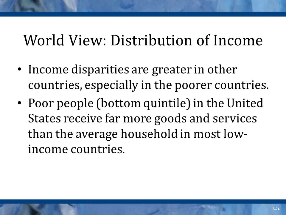 World View: Distribution of Income