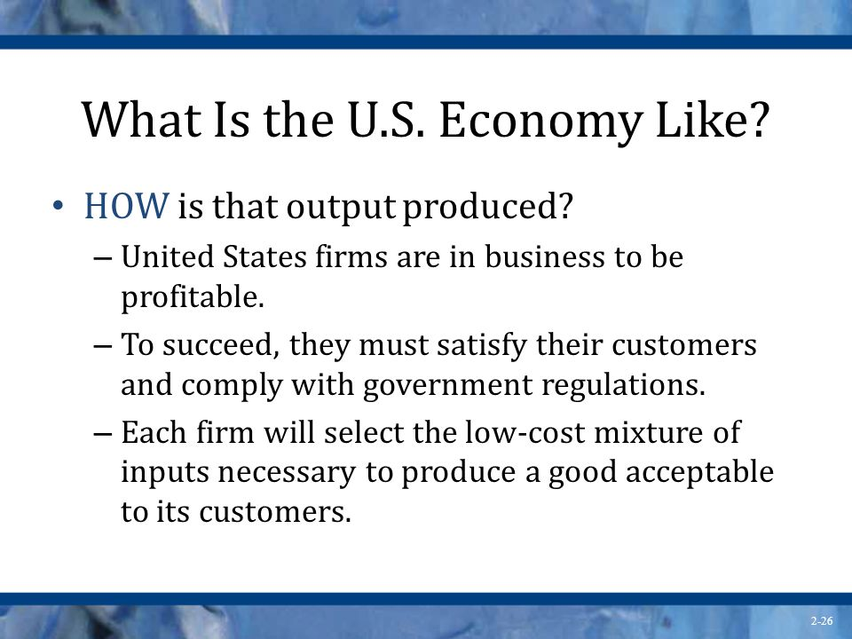 What Is the U.S. Economy Like