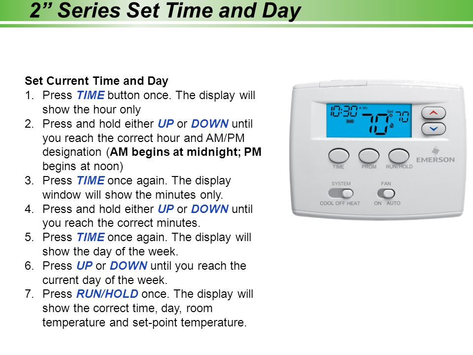 how to set up a room temperature